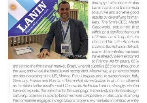 Frutas Lanin en revista Eurofresh Set-Oct 2018